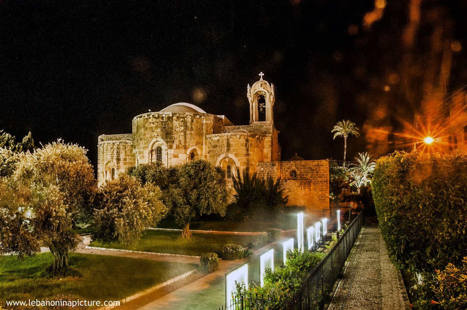 Saint Jean Church Byblos at Night