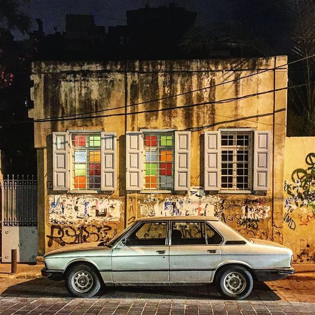 Silver lining ::::::::::::::::::::::::::::::::::::::: parked night ... (Beirut, Lebanon)
