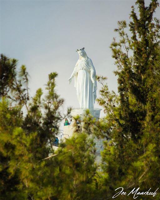 Our Lady Of Lebanon! ourladyoflebanon harissa lebanon virginmary ...