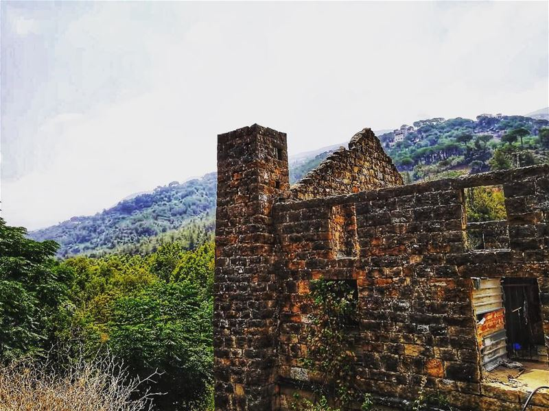 lebanon nature old house ruins architecture history mountains ... (Abey, Mont-Liban, Lebanon)
