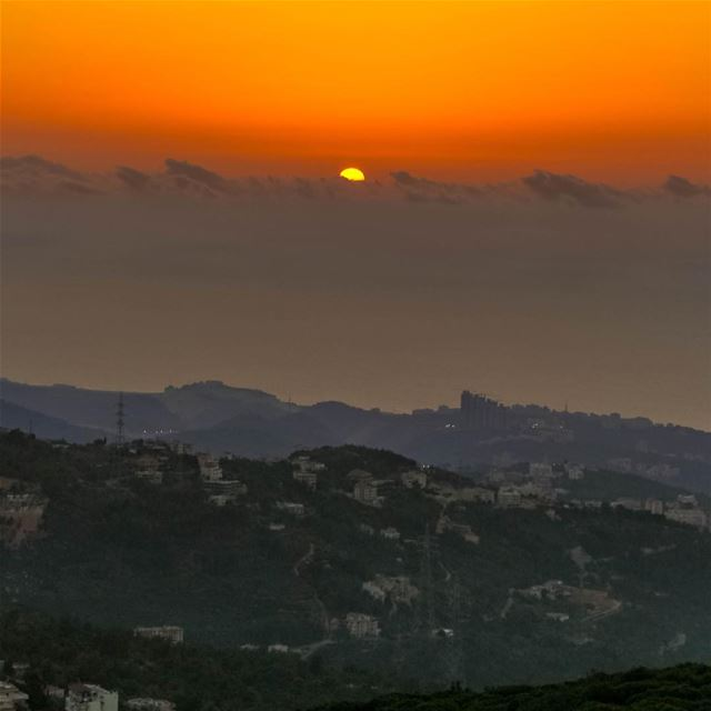Sunset moutains clouds kaifun lebanon loves_lebanon super_lebanon... (Kayfun, Mont-Liban, Lebanon)
