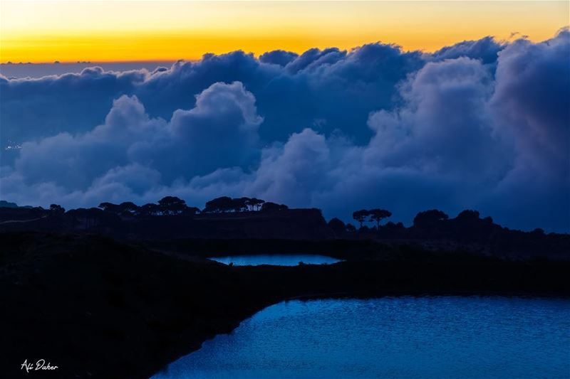 Clouds invasion ☁️🌅..... sunset sunsetpics landscape... (Falougha, Mont-Liban, Lebanon)