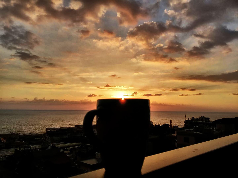 Coffee Meeting Sunset