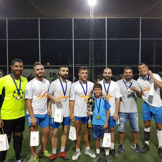 Congratulations @captains.pizza winner of Batroun Traders mini football... (Batroun)