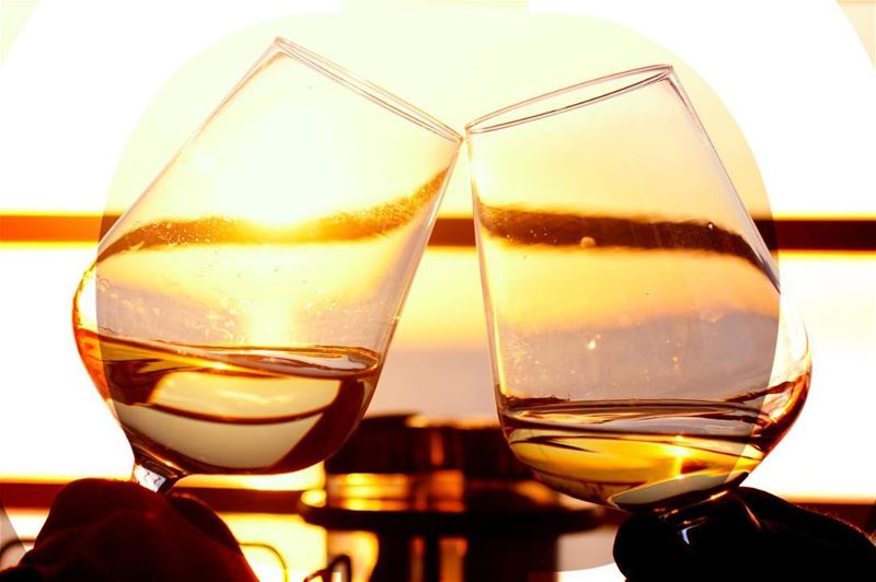 Cheers to sunsets, and full glasses! *Happy hour on the rooftop everyday...