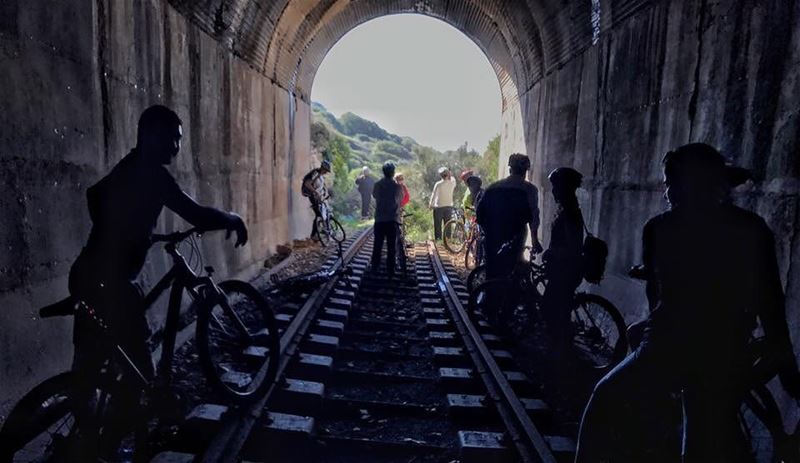 Here we go again,Instead of riding a train, we'll ride our bikes following... (Batroûn)