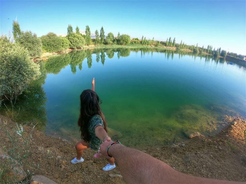 Every lake holds moving sands... .. natureonly naturephoto ... (Lebanon)