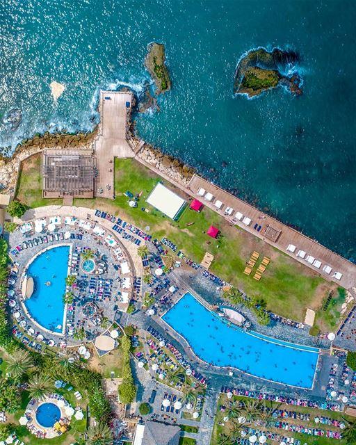 lebanon drone photooftheday photography pool dji phantom4pro ... (Koa Beach Resort)