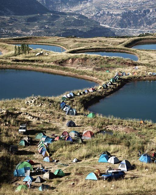 Camping on the edge ⛺️ @thehighestevent (El Laqloûq, Mont-Liban, Lebanon)
