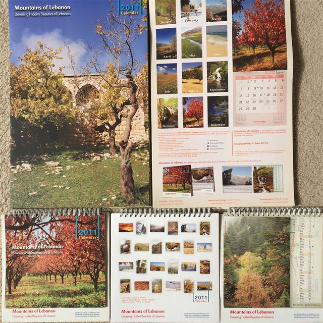 Celebrating 15 years of  mountainsoflebanon Calendars! 2011 7th edition,... (Lebanon)