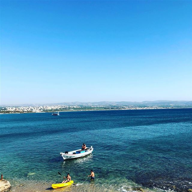haveaniceday  weekendishere  seaview  bluesky  summermood  summertime ... (Waves-Al jamal tyre)