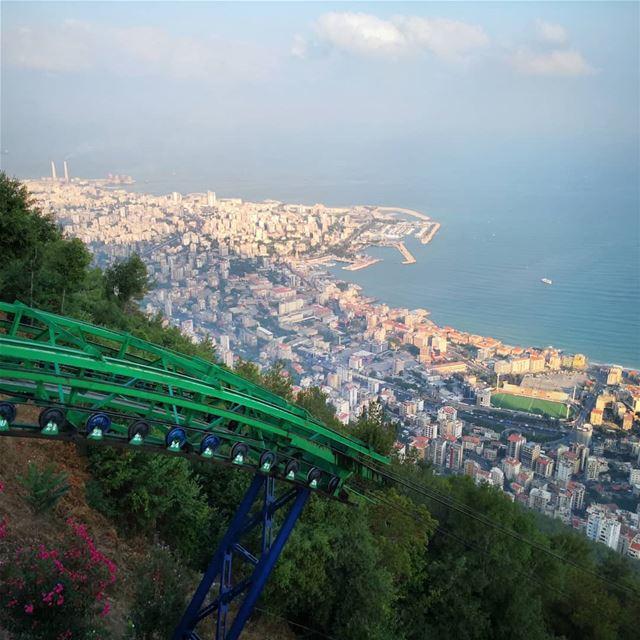 saturday jounieh harissa telepherique jouniehbay libanon skylovers... (Harîssa, Mont-Liban, Lebanon)
