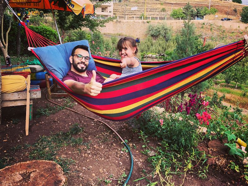 That's why she loves me, i bring  colors everytime i come! ••• hammock ... (Bcharreh, Liban-Nord, Lebanon)