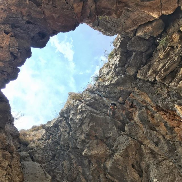 "We upgraded our last week post ""through the hole"" to a bigger hole!!...... (El Laklouk, Mont-Liban, Lebanon)"