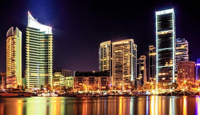 Beirut zaytunabay city lights lebanon sightseeing instagood instapic... (Beirut, Lebanon)