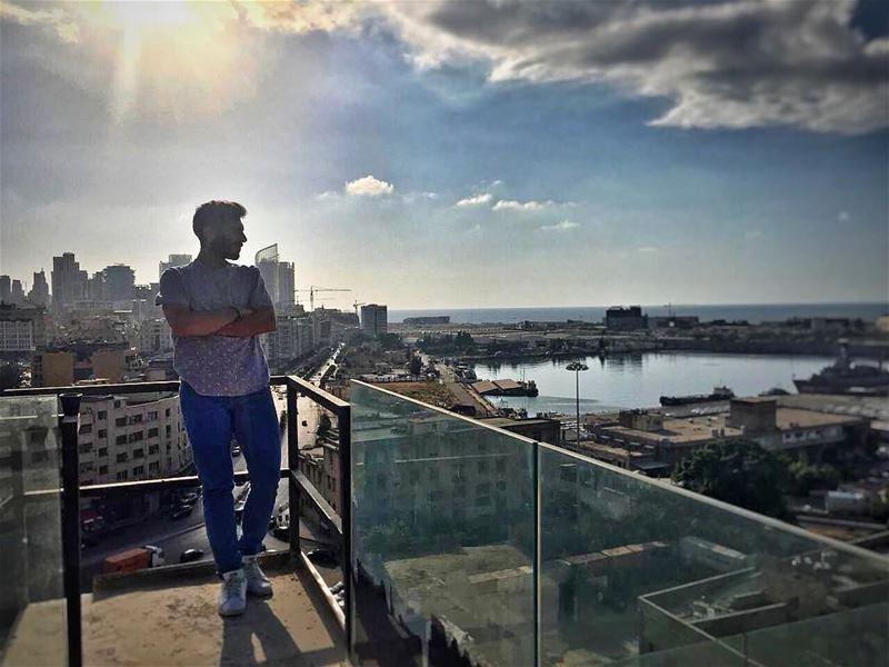 Not a Cliché 🌇 beirut lebanon cityview sunset_lovers portbeirut ... (Port of Beirut)