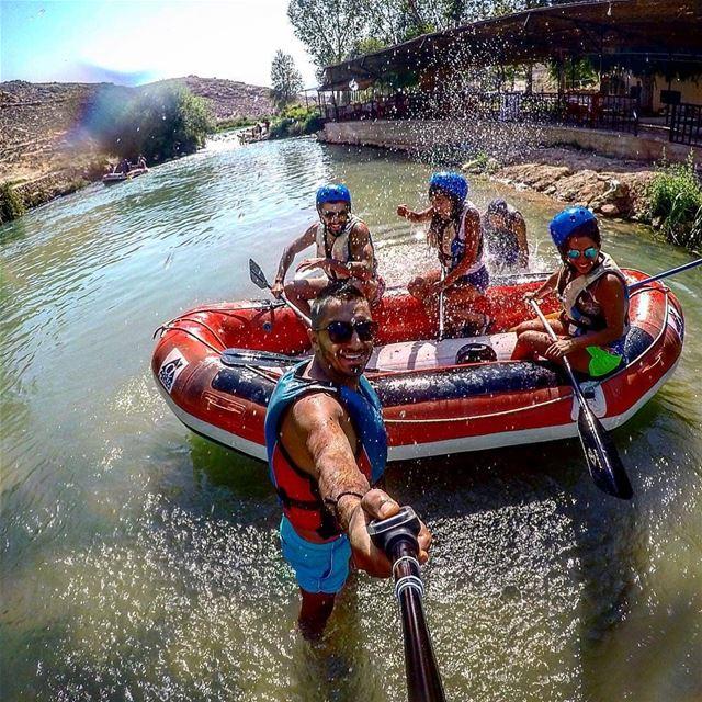 Weekend vibes by @labibzeghrini fun raftingtrip assiriver assi_river ... (Al Assi River-Hermel, Lebanon)