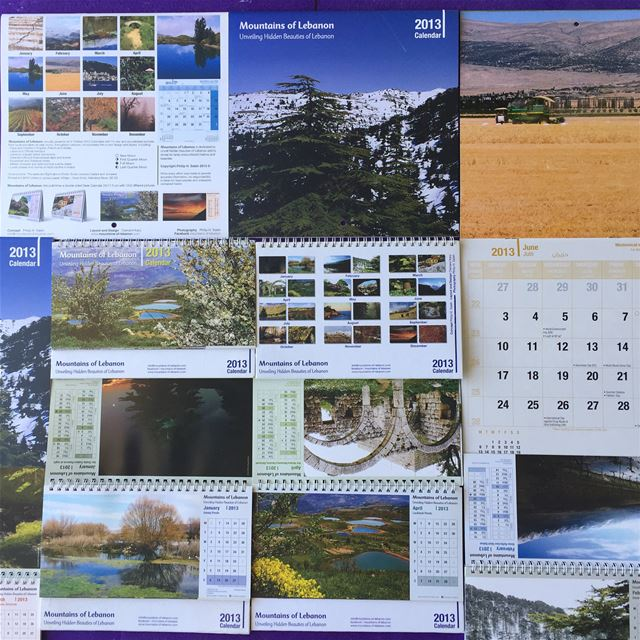Celebrating 15 years of mountainsoflebanon Calendars! 2013 9th edition,...
