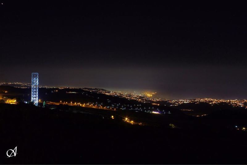 The view nightshot longexposure longexposure_shots cities lights ... (Qanat Bakish, Mont-Liban, Lebanon)