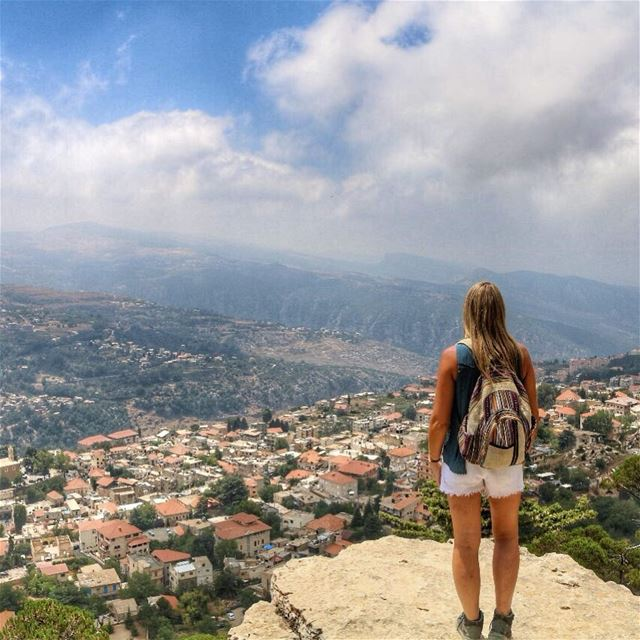 Feeling on top of the world thanks to @trekkinglebanon 💚 🇱🇧.You often... (Ehden, Lebanon)