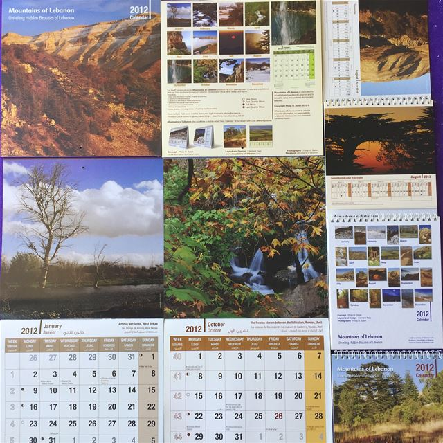 Celebrating 15 years of mountainsoflebanon Calendars! 2012 8th edition,...
