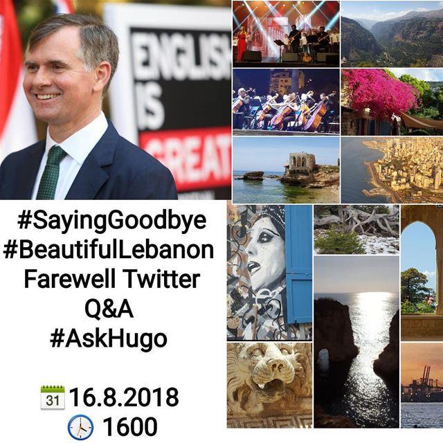 Don't miss the final farewell Twitter Q&A with Ambassador Hugo Shorter...