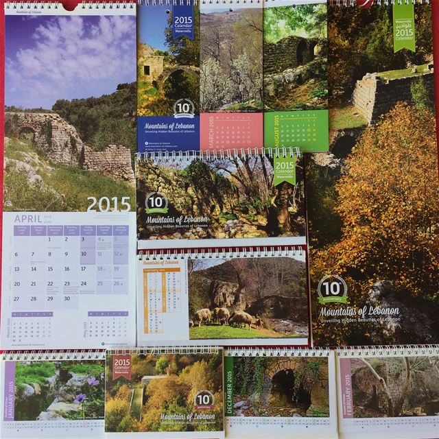 Celebrating 15 years of mountainsoflebanon Calendars! 2015 11th edition,... (Lebanon)