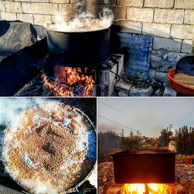 موسم البليلة yaroun yarounday wheat boiling southlebanon ...