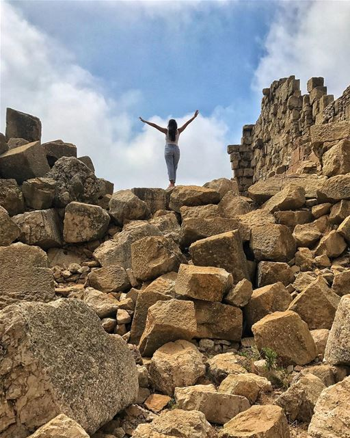 I climbed a pile of ancient rocks today, what did you do? ✨ ... (Ruins Faqra Kfardebian)