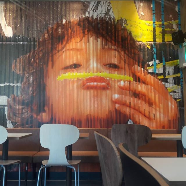 🍟Moustache .... graffitiart asia lebanon iloveart artwork ... (Badaro the Street)
