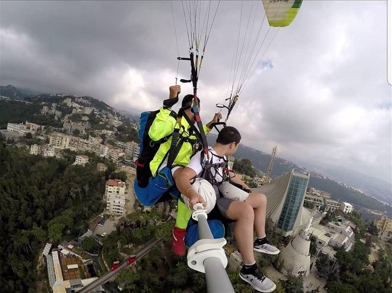 paragliding paraglidin_over_lebanon jounieh beirut harissa lebanon ...