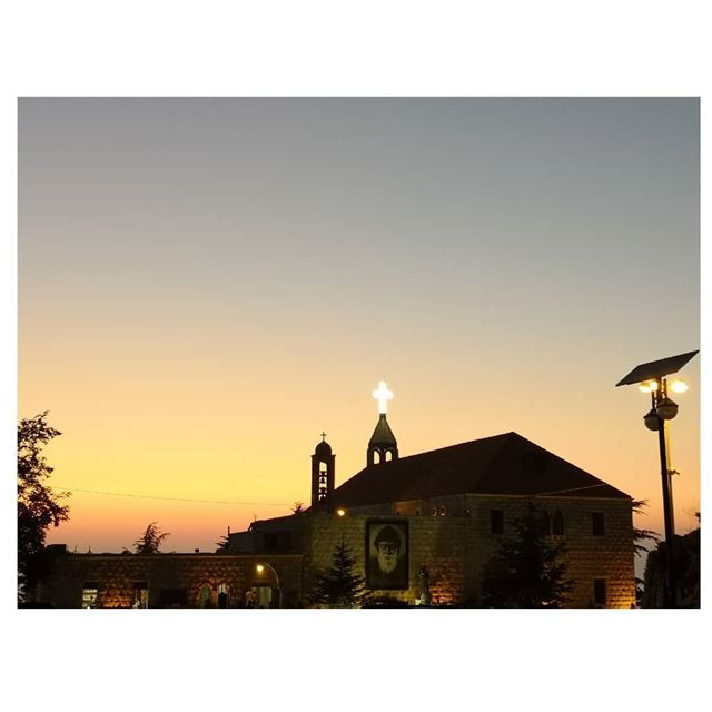 On a peaceful night! 🙌 SaintCharbel Sunset Lebanon 22nd---... (Mazar Saint Charbel-Annaya)