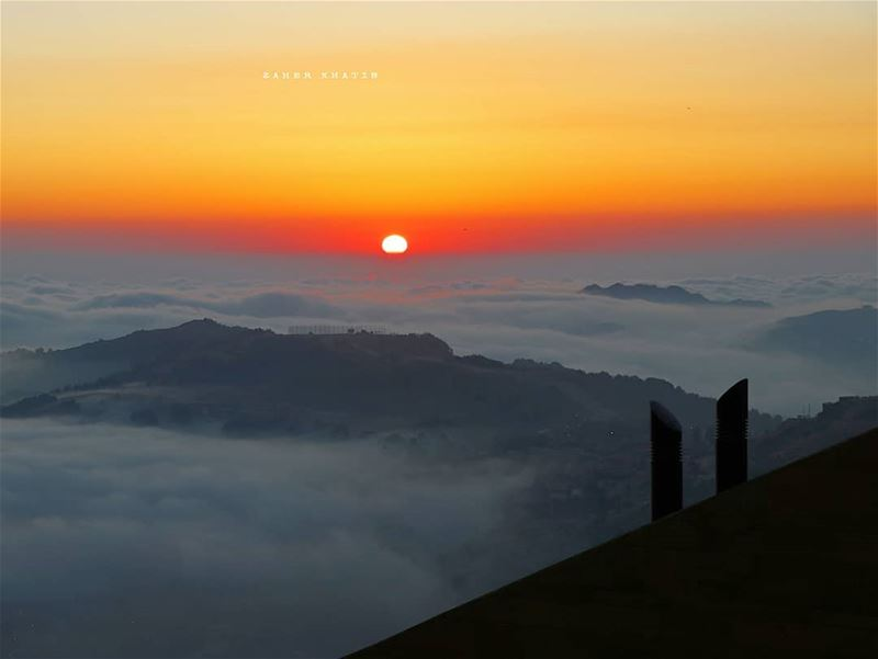 Sunset over the clouds.. From Faqra 🇱🇧 * livelovebeirut ptk_lebanon ... (Faqra Villlage)