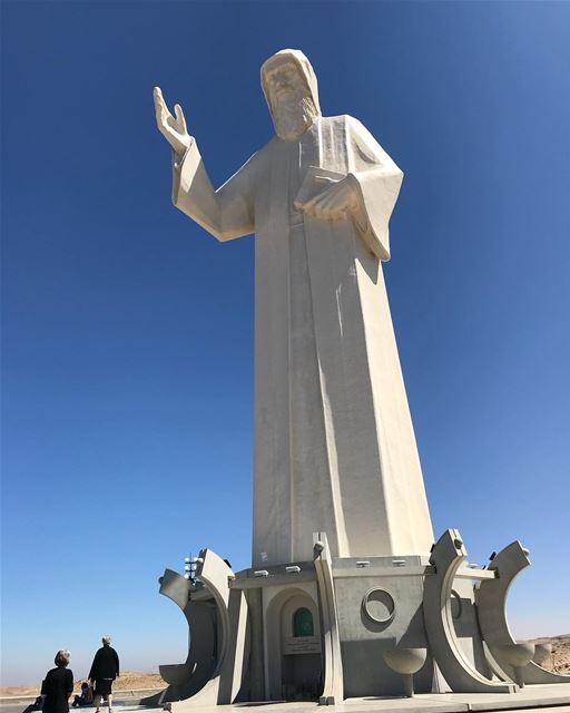 lebanon mountlebanon saintcharbel faraya saint nature faith sky white... (Mar Charbel - Faraya)