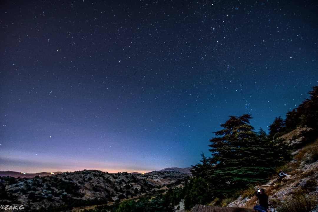 To the stars milkywaychasers nightview lebanon nikonphotography ... (Cedars Ground Campsite)