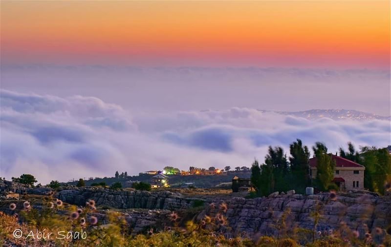 Above my happy floating cloud..... lebanon  bekish  cloud  cloudscapes... (Baskinta, Lebanon)