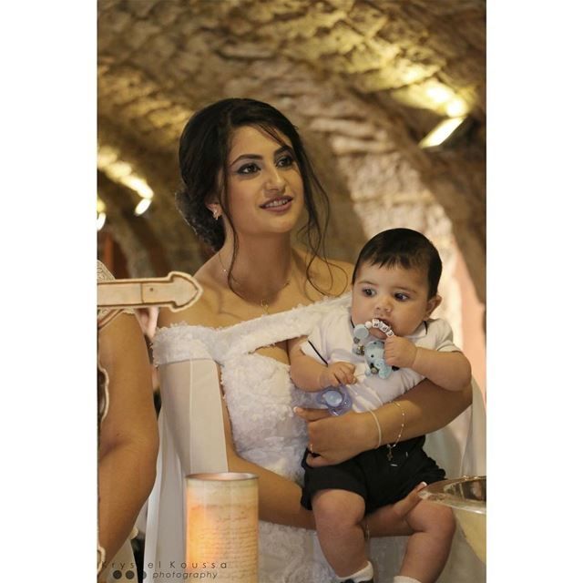 Joseph & his  Godmother 👼🏻🙏🏻Book your  BaptismPhotography now on 📱+96 (Mazar Saint Charbel-Annaya)