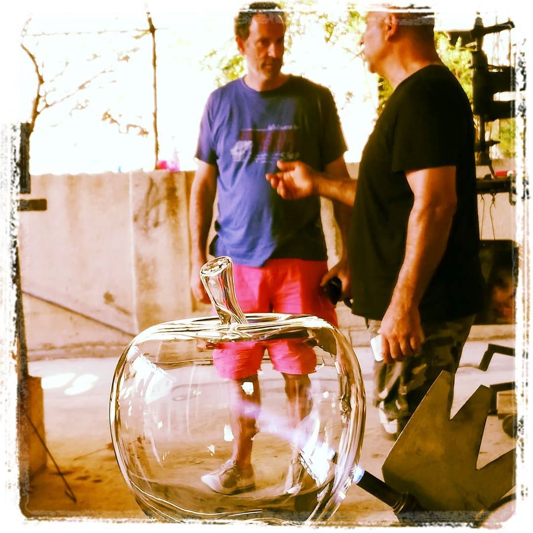 Blowing glass in sarafand apple tourleb tourlebanon tourismlb ... (As Sarafand, Al Janub, Lebanon)