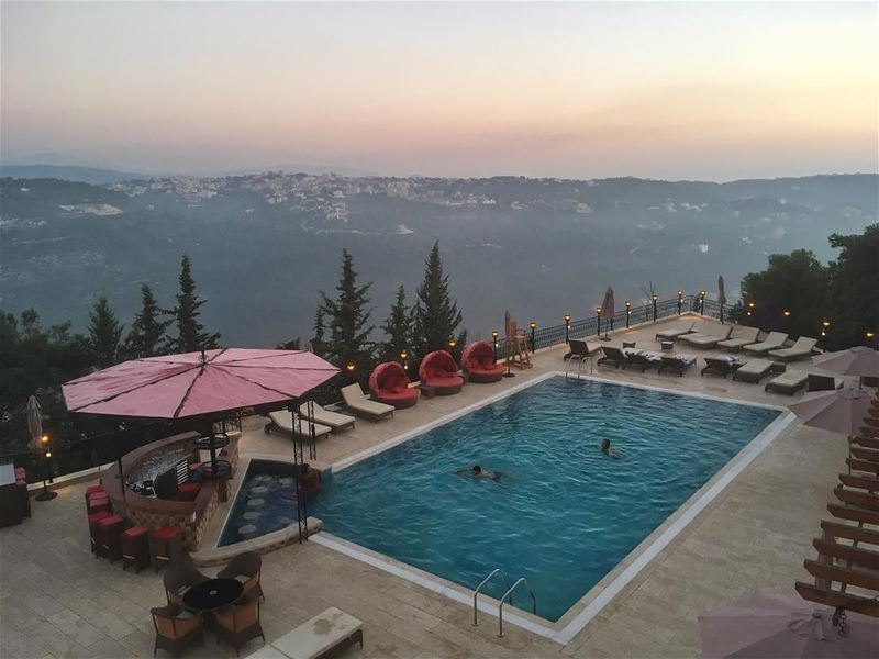 Pre-wedding sunset... Lebanon lifewithaview mountains ... (L' auberge des Emirs & Restaurant le petit Bruxelles)