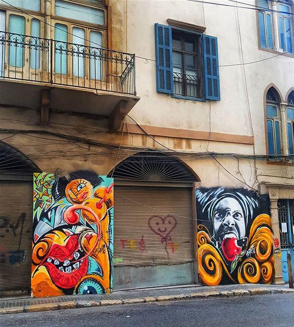 Street Art.. TheUrbanPotato .... lebanon urbanlebanon achrafieh ... (Monot Street)