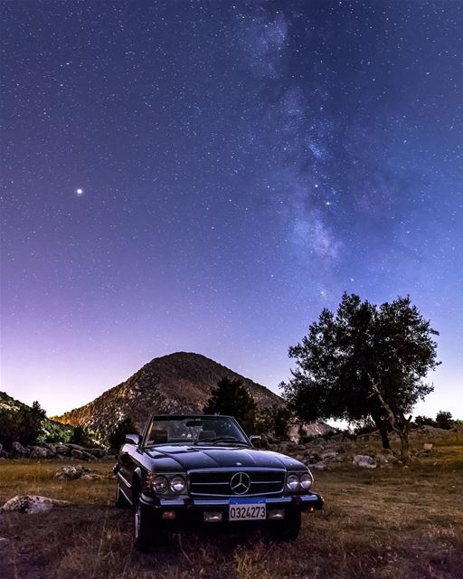 A star amongst stars... @mercedesbenz milkyway mars📷 w/ @alidaher89 (Nabatieh Governorate)