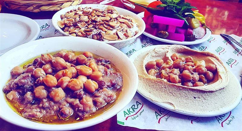 Lebanon Tripoli LebaneseFood Foul Hummus Fatteh ... (Akra)