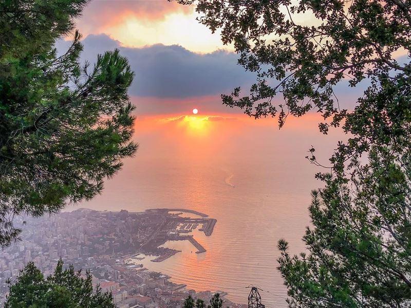 """The skies proclaim the work of his hands"" -Psalm 19:1............ (Harîssa, Mont-Liban, Lebanon)"