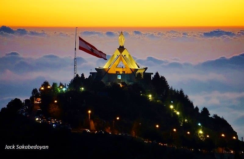 Saydet hosn church saydethosn ehden northlebanon church sunsets ...