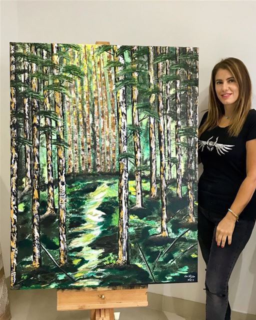 "Title ""Silent Nature""💚🍃 ready Size: 97cmx130cmMedium: mixed acrylic..."