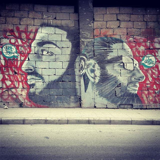 Beards ... streetart streetartbeirut streetphotography stencilart ... (Beirut, Lebanon)