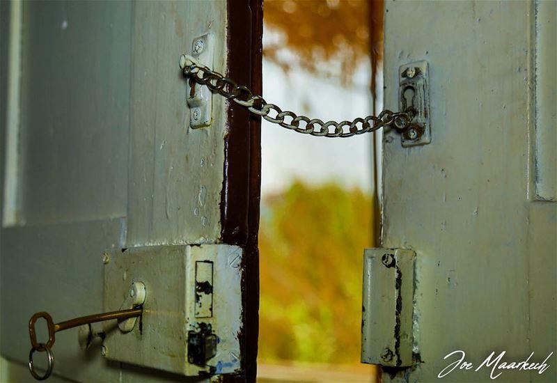 When I discover who I am, I'll be free... door locked key freedom ...