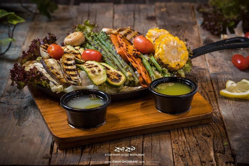 Grilled Vegetables PlateCliend: Sahseh Restaurant@sa7se7officialShot on... (صَح صِح)