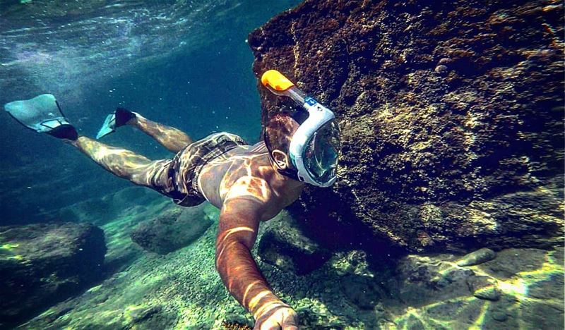 I just realized how beautiful the world underwater is.💙 snorkeling... (Batroûn)