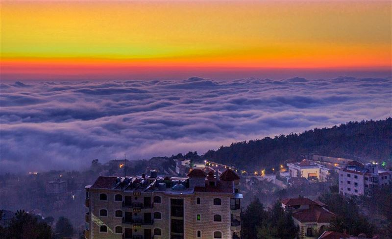 Kayfun Mountains clouds lebanon photography landscapephotography nature... (Kayfun, Mont-Liban, Lebanon)